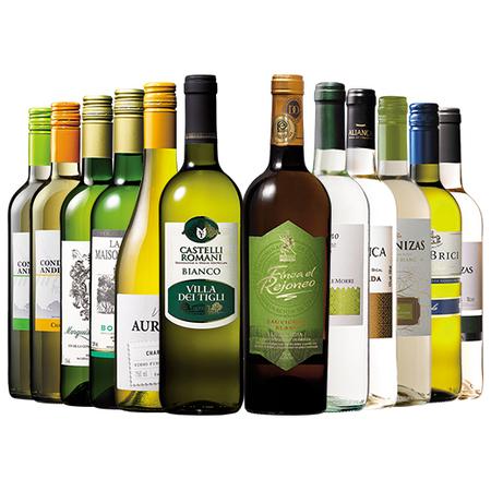 家飲み応援!3大銘醸国入り!世界デイリー白ワイン12本セット