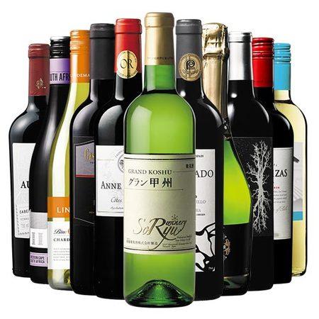 日本ワイン入り!世界六大州10ヵ国赤白泡11本ワインセット