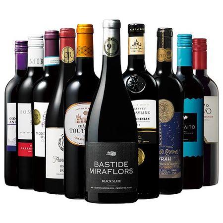 【46%OFF】パーカー91ポイント&トリプル金賞&格上ボルドー入り!世界選りすぐり赤ワイン10本セット