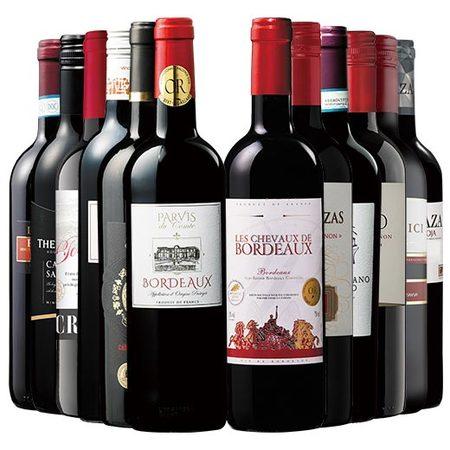 三大銘醸地金賞入り!世界選りすぐり赤ワイン12本セット